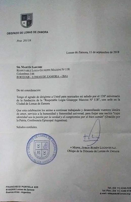 carta obispo